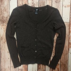 H&M Cardigan Sweater with Sleeve Button Detail